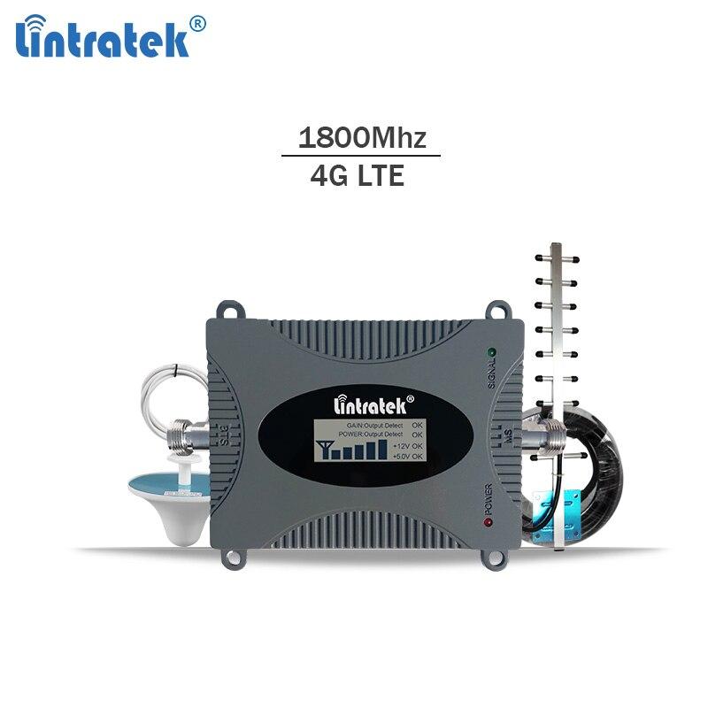 Lintratek 4G lte amplificador de señal dcs 1800 MHz repetidor gsm 4G móvil repetidor de señal 1800 MHz señal celular amplificador Banda 3 #6