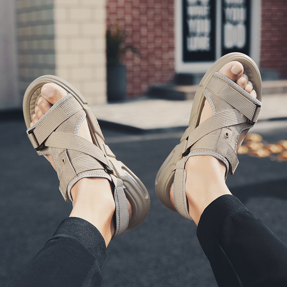 New Men's Sandal Men Shoes Lightweight Breathable Non-slip Outdoor Sandals Beach Shoes Roman Style Walking shoes male(China)