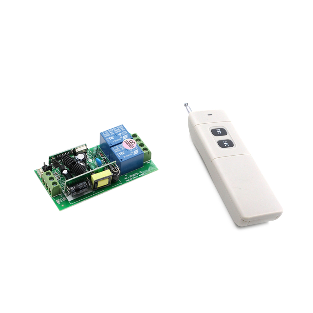 New AC85V 110V 220V 250V 2CH RF Wireless Remote Control Receiver & Transmitter Water Pump Motor Control Long Range 1000m replacement plastic housing water pump motor ac 110v 13a