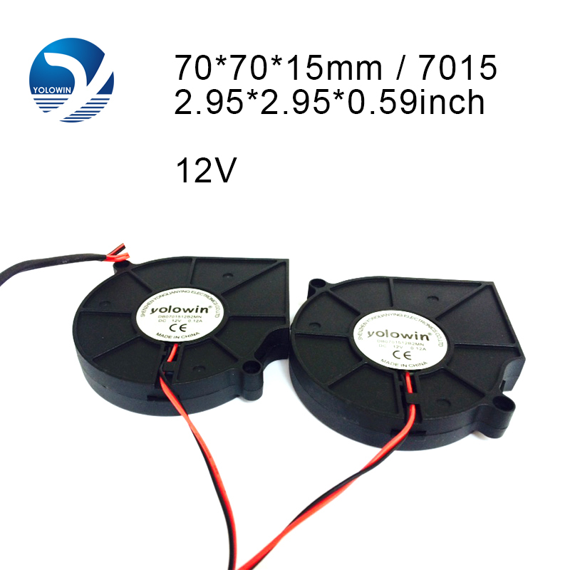 1 Par PC Ventilador Ventilador de Enfriamiento para Computadora 75 * 75 * 15mm 12 V PC Radiador Ventilador para Computadora Ventilador Enfriador Dos Rodamientos de Bolas Disipador de calor