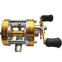 Mounchain 40# Double brake Baitcaster fishing Reel 0.40/140 mm/m 0.35/180 mm 2+1 Bear ratio 5.2:1 Golden Blue Right / Left Hand