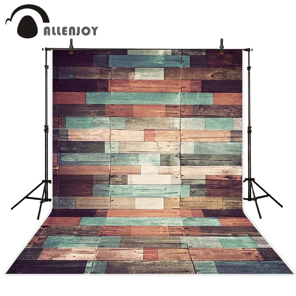 Allenjoy Photography background wood brick wall colorful older birthday princess girl vinyl new design backdrops