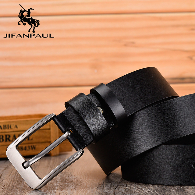 Leather fashion modern youth jeans decorative high quality belt 4
