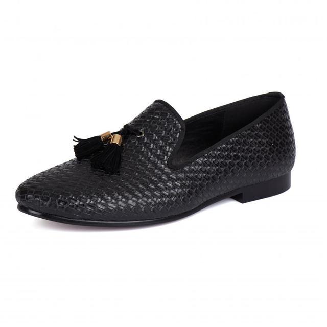 bb3dbac29709aa Harpelunde Slip On Men Dress Shoes Black Tassel Loafer Flats US Size 6-14