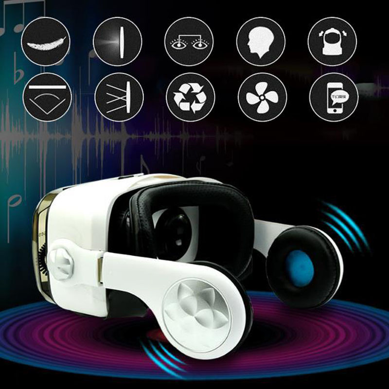 OL Virtual Reality Glasses font b VR b font Box Glasses Headset with Headphone for 4