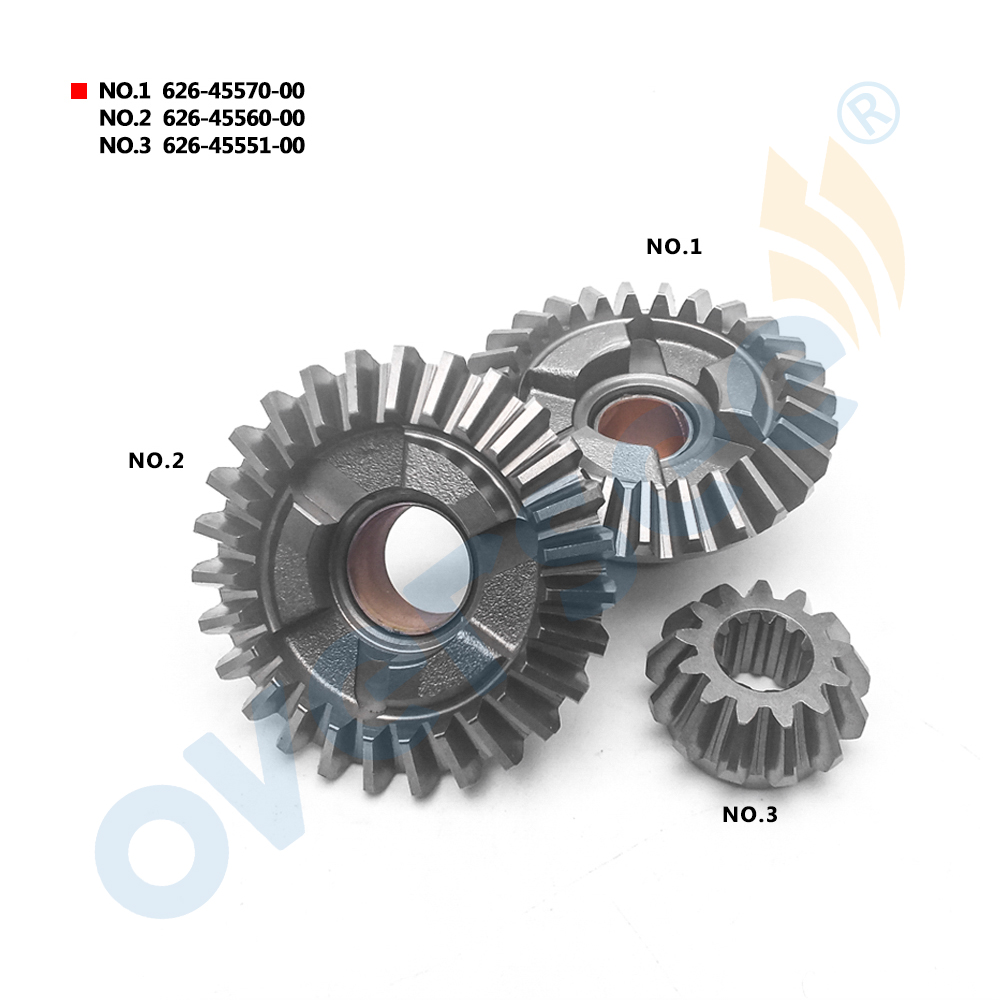 Outboard Gear Kit 626-45570 626-45560 626-45551 For 9.9HP 15HP YAMAHA Outboard Motor 3PCS 6e7 gear kit 6e7 45560 6e7 45571 6e7 45551 for yamaha outboard motor 2 stroke 9 9hp 15hp 9 9d 15d 6e7 series