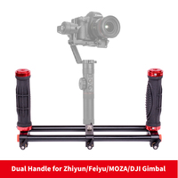 DIGITALFOTO 2 Handle Holder Camera Stabilizer DSLR Rig For Smartphone 3 Axis Gimbal Zhiyun Smooth Q