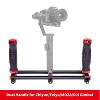 DIGITALFOTO 2 Handle Holder Camera Stabilizer DSLR Rig For Smartphone 3 Axis Gimbal Zhiyun Smooth Q