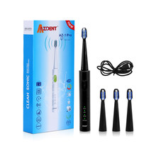 AZDENT Hot Fashion AZ-1 Pro Electric Sonic Toothbrush USB Charger Rechargeable Teeth Tooth with 4 Heads Tooth Brush Waterproof(China)