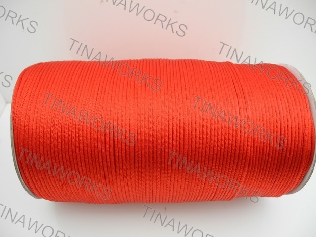 FREE SHIPPING 300meters/327Yards Red Rattail Satin Cord/Thread Chinese knot/Nylon beading cord