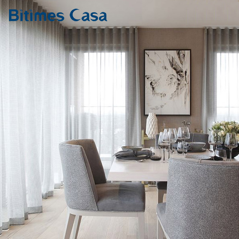 Solid Color Linen Windows Screen Tull For Livning Room Bedroom Curtain High Intensity Home Decoration