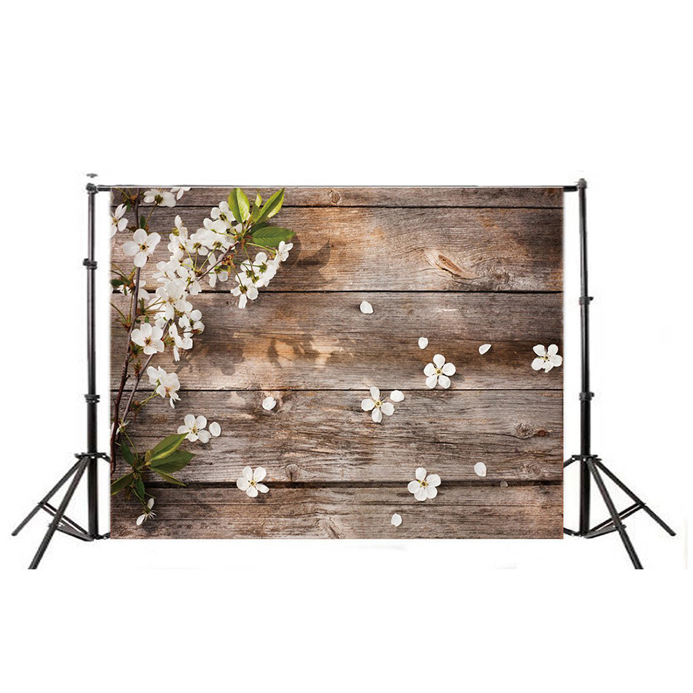 5X3ft Wooden Floor &Flower Photography Backdrop Studio Prop Photo Backgrounds Backdrops DZ425 laeacco old chic wall wooden floor door children portrait photo backgrounds customized photographic backdrops for photo studio