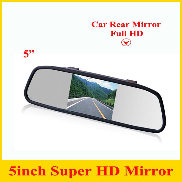 """Promoção 5 """" Digital TFT LCD resolução HD Monitor do carro espelho retrovisor Monitor de segurança Auto para Camera DVD VCR"""
