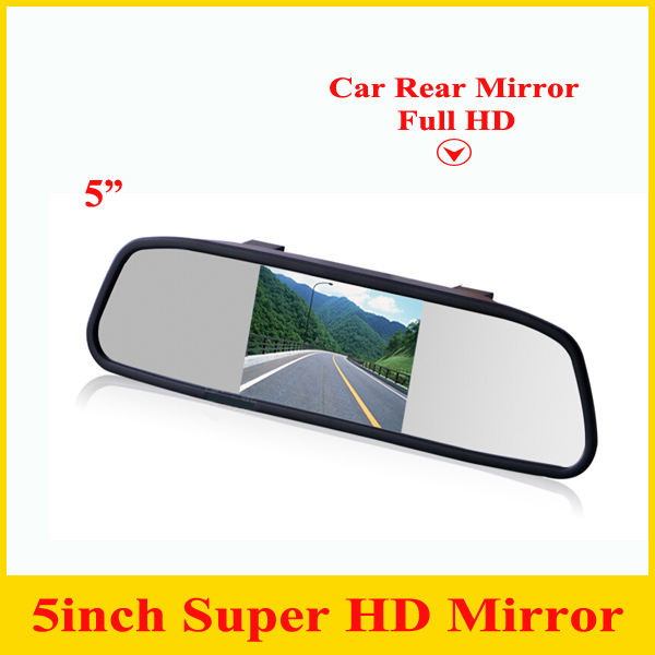 Promotion 5 Digital TFT LCD Screen Resolution HD Car Monitor Rearview Mirror Security Monitor Auto for Camera DVD VCR