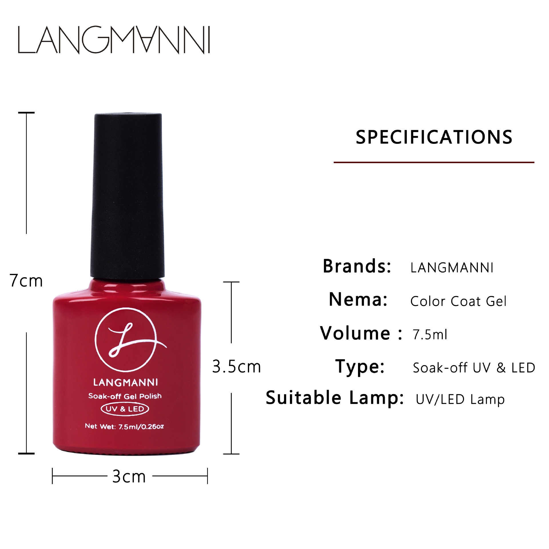 Langmanni 41 Colors Nail Polish Red Gray Glitter Pearl Nail Art Varnish Water-based Manicure Nail Art Lacquer 6ml