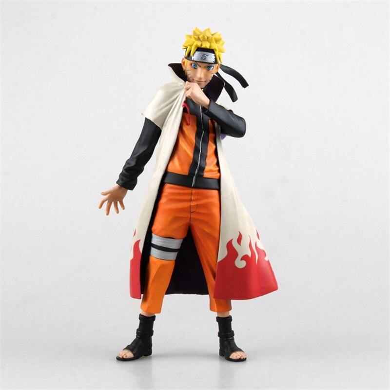 Anime Naruto Hokage cloak figure action H25cm Naruto Shippuden yondaime Gold glitter clothes unisex free shipping DianxiaToy