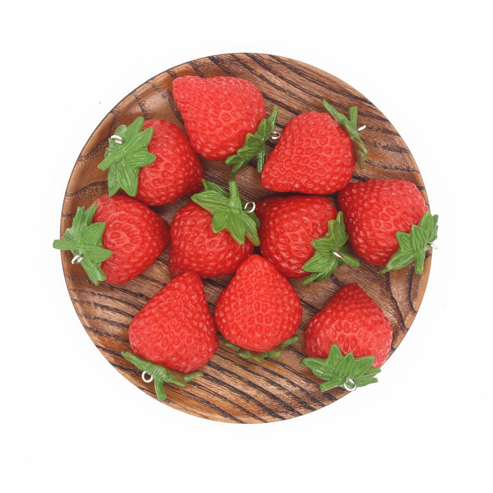Artificial Strawberry  Painting  Model Shop Decoration Photography Artificial Strawberrys Show Props