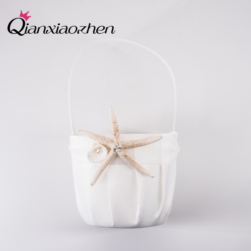wedding : Qianxiaozhen 4pc Beach Theme Starfish Ivory Wedding Collection Set Wedding Supplies Wedding Accessories Decoration Cesta Boda