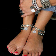 Bohemian Charm Coin Ankle Bracelet Jewelry For Women