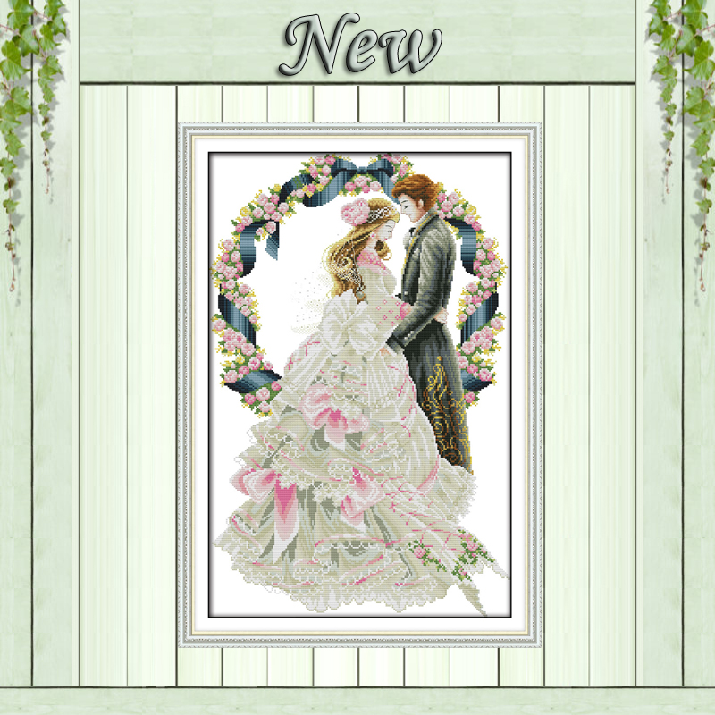 Royal wedding lovers decor painting counted printed on canvas DMC 14CT 11CT Chinese Cross Stitch Needlework Sets Embroidery kitsRoyal wedding lovers decor painting counted printed on canvas DMC 14CT 11CT Chinese Cross Stitch Needlework Sets Embroidery kits
