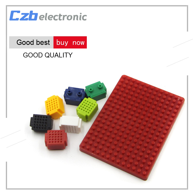 цена на 7pcs Mini 25 Tie-points Breadboard Solderless Prototype With PCB Adapter Board For Arduino