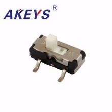 30PCS MSS-12D17 MINI slide switch 1P2T SPDT SMD SMT 3 pin 2 position mini toggle switches handle white цены