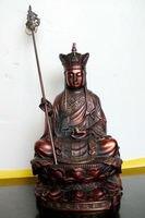 b 22 Tibet Buddhism Ksitigarbha buddha Statue 8 inch red buddha Statue wedding copper Decoration real Brass