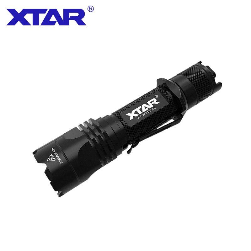 XTAR TZ28 lampe de poche double interrupteur arrière 1100LM CREE XP-L-HI/V2 LED 4 modes lampe de poche tactique ensemble complet