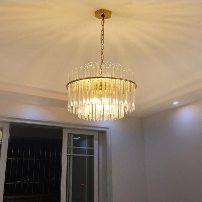 Atmosphere living room chandelier home crystal restaurant post-modern minimalist American creative personality glass art duplex a1 towards the gate of modern minimalist creative european style cobblestone glass ceiling light living room restaurant rice