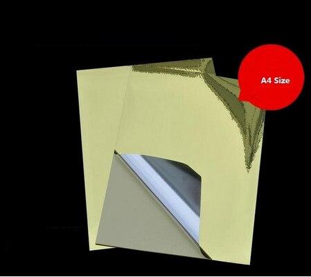 50 листов A4 золотые наклейки яркое золото этикетки водонепроницаемый наклейки самоклеющиеся наклейки этикетки для лазерных/струйный принт...
