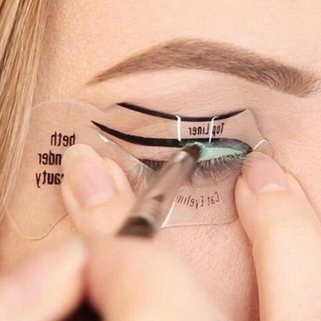2pcs Perfect Cat Eye Smokey Eye Makeup Eyeliner Models Template