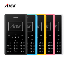 Original Card Phone AIEK AEKU X7 Cell Phone Mini phone Mobile Phone Low Radiation FM Radio