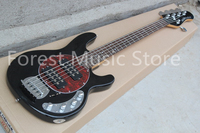 High Quality Glossy Black Finish Suneye Music Man Electric Bass Guitar China OEM 5 String Guitar Bass For Sale