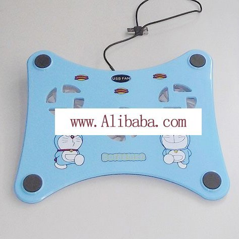 HOT sale Notebook cooling fan base(Hello kitty and Dingdang) Free shipping y_080322-1