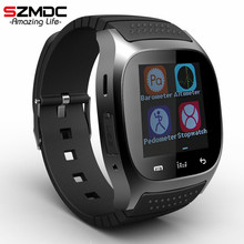 Smart Watch Hot M26 Bluetooth wristwatch smartwatch with Dial SMS Remind Music Player Pedometer for Android Samsung Smartphones