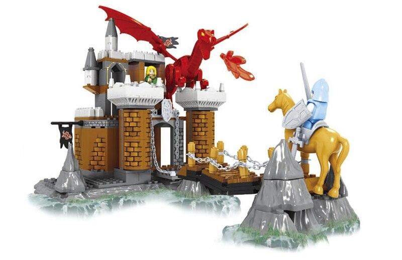 Ausini building block set compatible with lego Knights castle series 042 3D Construction Brick Educational Hobbies Toys for Kids ausini building block set compatible with lego castle series 046 3d construction brick educational hobbies toys for kids