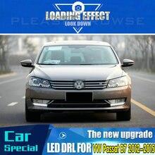 1 пара левый и правый светодиодный DRL Габаритные огни LED противотуманные лампы для VW Passat B7 2012 2013
