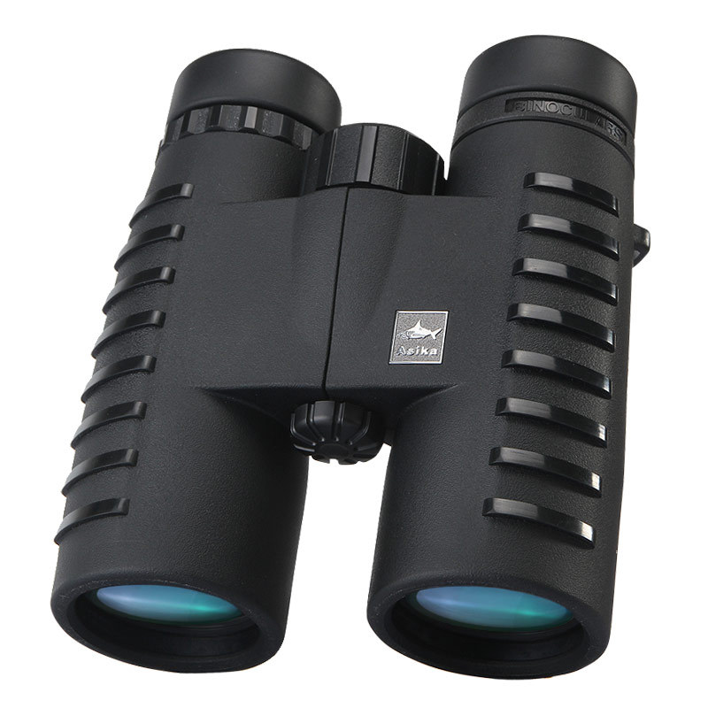 Top Quality Shark Asika 10x42 high-powered HD Binoculars Bak4 Telescope for travelling Hunting Birding bresee high powered telescope hd 7x50 binoculars for hunting and outdoor adventure
