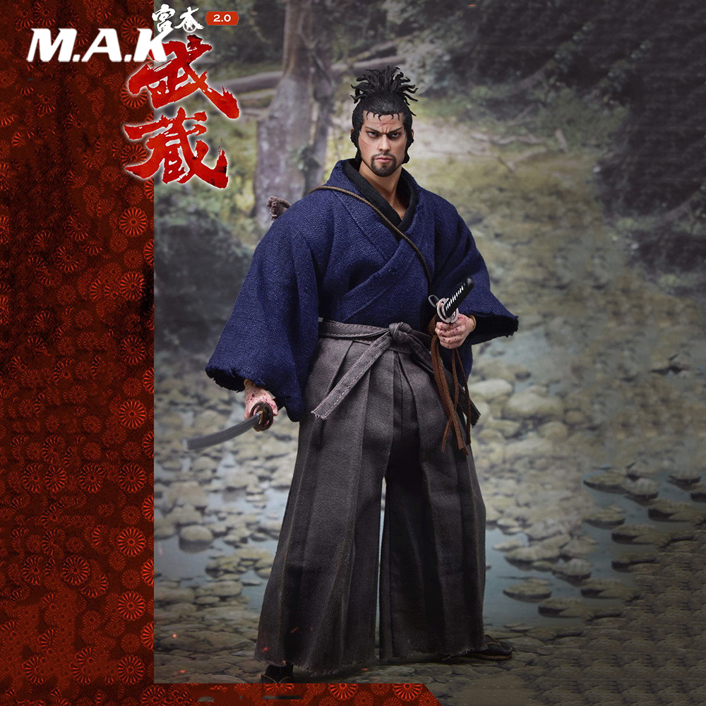 Collectible 1/6 Scale Miyamoto Musashi 2.0 Standard Ver. 12'' Male Action Figure Doll Toys Gift