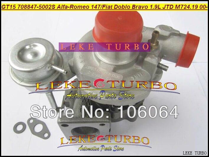 GT1444S 708847 5002S 708847 0002 708847 46756155 55191595 Turbo Turbocharger For Alfa Romeo 147 For Fiat Doblo Bravo M724 1.9L
