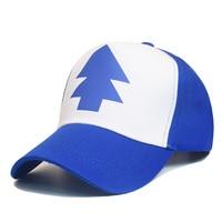 2016 Fashion Gravity Falls Baseball Cap BLUE PINE TREE Hat Cartoon Trucker Snapback Cap New Curved