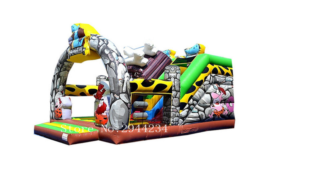 Latvia customzied  Dry jumping castles inflatable slide funny summer inflatable water games inflatable bounce water slide with stairs and blowers