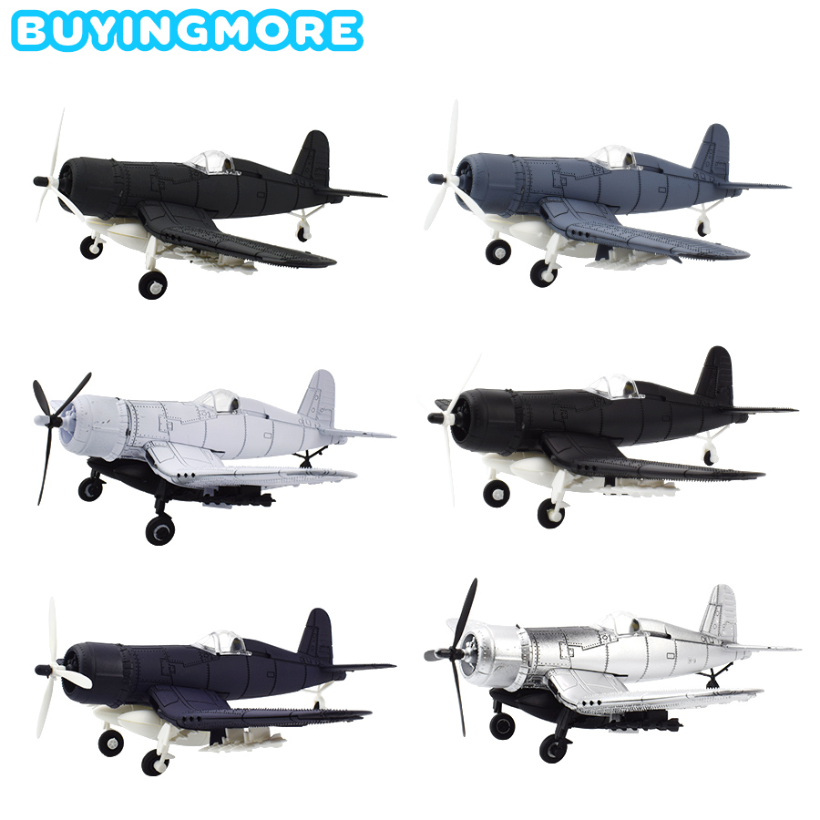 1 PCS Assembly Aircraft Model Kit Toys for Boys Military F4U Corsair Fighter 4D Model DIY Building Blocks Educational Toy Gifts