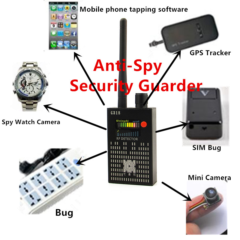 Best 1MHz 8000MHz Wireless Signal Detector Radio Wave WiFi Bug Detector Camera Full Range RF Detector