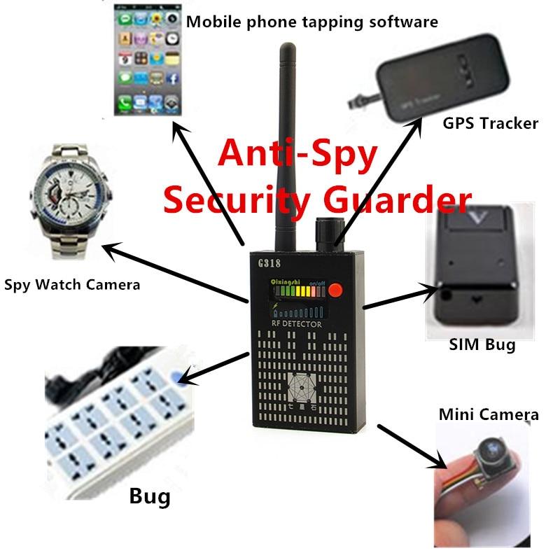 Wireless Signal Detector Radio Wave WiFi Bug Detector RF Detector G318 1-8000MHz