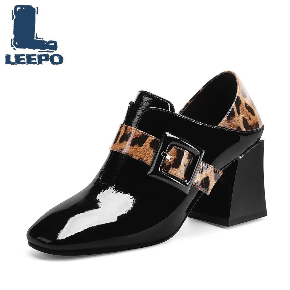 Grande Luxe Chaussures Léopard Pompes De Talons Compensées Semelles 453ARjL