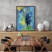 Modern vintage individual grande azul de la Lona arte de la pared pintada a mano pintura al óleo famosa artistas obras de arte para la sala de decoración para el hogar