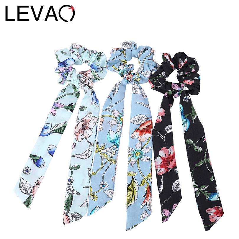 LEVAO 2019 New Fashion Elastic Hair Bands Print Knotting Hair Accessories Women Striped Girls Hair Rings   Headwear   Hairbands