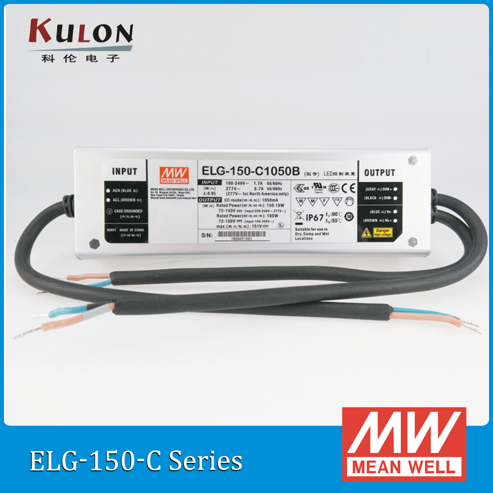 original mean well constant current led driver elg 150 c1400b 1400ma 150w pfc ip67 dimmable. Black Bedroom Furniture Sets. Home Design Ideas