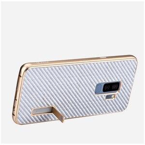 Image 4 - Samsung Galaxy S9 /S8 artı durumda lüks Metal alüminyum tampon kapak karbon Fiber koruma kılıfları Samsung Galaxy s9 S8 kılıfı
